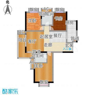 汉城国际121.00㎡户型3室2厅2卫
