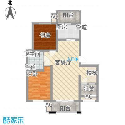 人和家园93.95㎡D4(跃层下户型3室2厅1卫1厨
