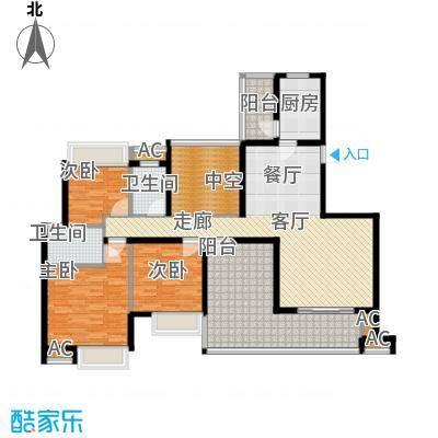 晶蓝上城135.00㎡E户型(已售完)户型3室2厅2卫1厨