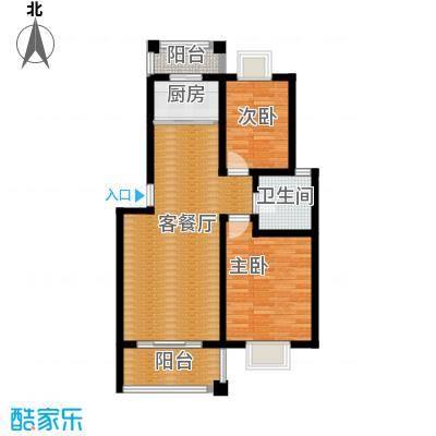 双湖明珠87.84㎡10号楼一户型2室1厅1卫1厨