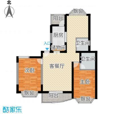 江信国际花园101.00㎡江信国际花园2室户型2室