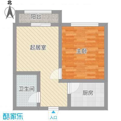 洪城时代广场54.00㎡洪城时代广场1室户型1室