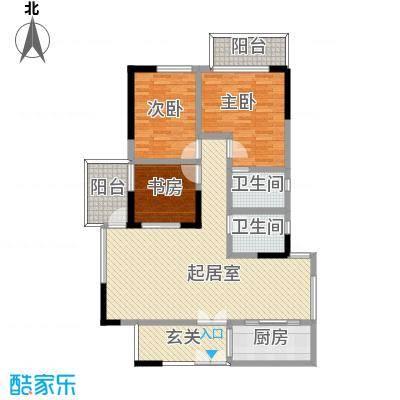 商城世纪村124.37㎡C3户型(三期)户型3室2厅2卫1厨