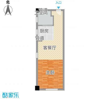 洪城时代广场57.00㎡洪城时代广场1室户型1室