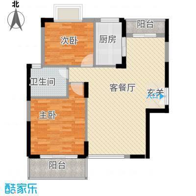 商城世纪村95.63㎡户型B4户型2室2厅1卫1厨