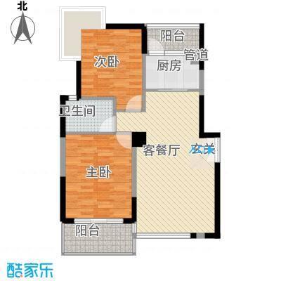 商城世纪村90.74㎡B2户型(三期)户型2室2厅1卫1厨