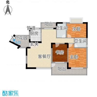 商城世纪村134.73㎡户型C7户型3室2厅2卫1厨