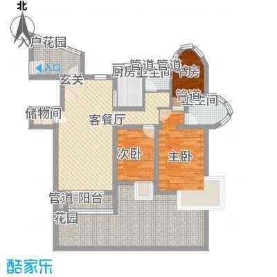 海航白金汇114.99㎡住宅A1户型3室2厅2卫1厨