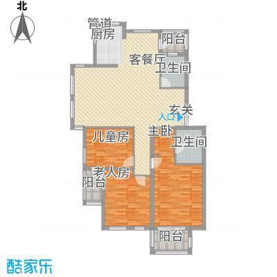 富馨花园131.00㎡富馨花园户型图D13室2厅2卫户型3室2厅2卫