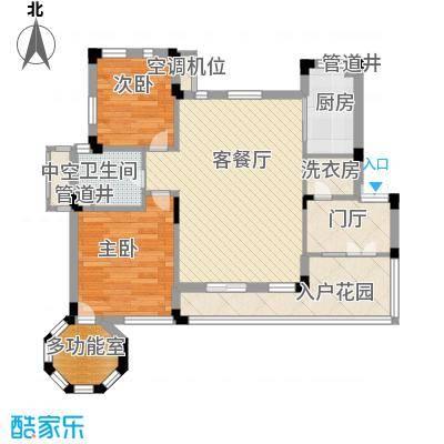 幸福时光86.00㎡(一期,售完)D-F6户型2室2厅1卫1厨