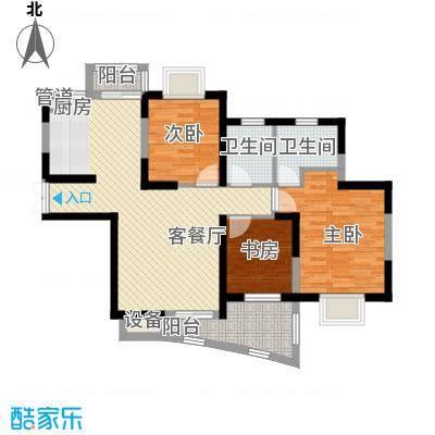 中兴华庭117.91㎡中兴华庭户型图B户型3室2厅1卫1厨户型3室2厅1卫1厨