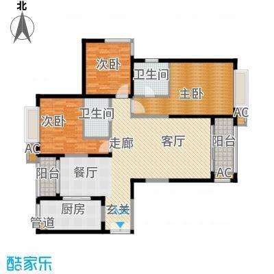 滨江豪园147.97㎡滨江豪园户型图三室二厅一厨二卫3室2厅2卫1厨户型3室2厅2卫1厨