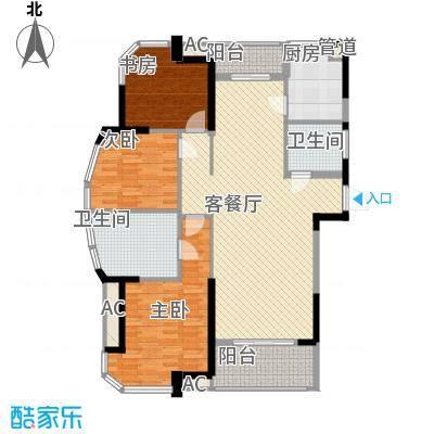 丰和新城二期142.78㎡G3#楼E4户型3室2厅2卫1厨