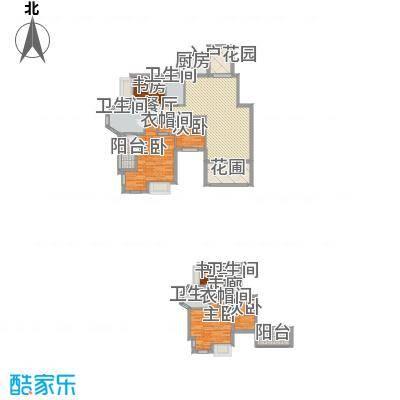 洪客隆地中海阳光227.92㎡多层LB户型顶层复式227.92㎡户型10室