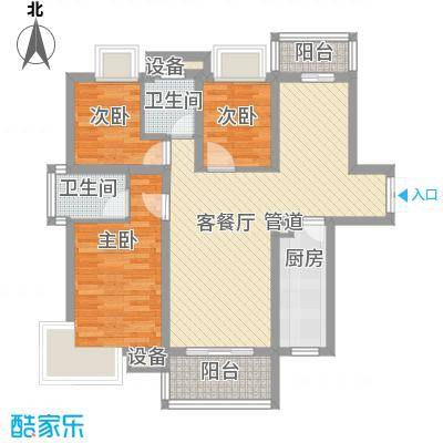 凤凰中大道林业局103.00㎡凤凰中大道林业局宿舍3室户型3室