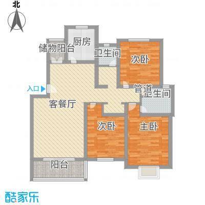 凤凰中大道林业局117.00㎡凤凰中大道林业局宿舍3室户型3室