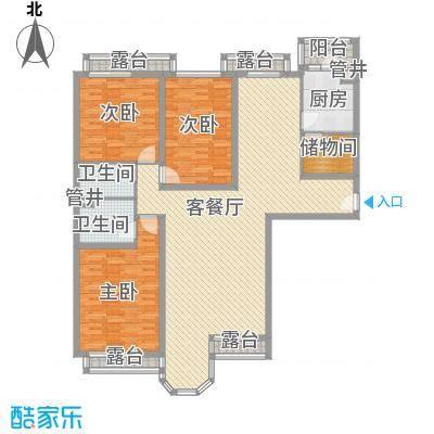京东嘉苑经适房88.00㎡京东嘉苑(京东经济适用房)3室户型3室