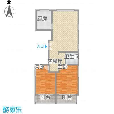 嘉禾花园106.63㎡嘉禾花园户型图E型(已售完)2室2厅1卫1厨户型2室2厅1卫1厨
