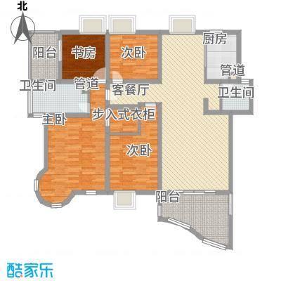 宁静花园153.00㎡宁静花园3室户型3室