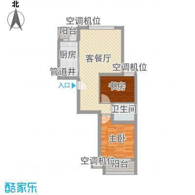 上海路住宅小区 2室 户型图