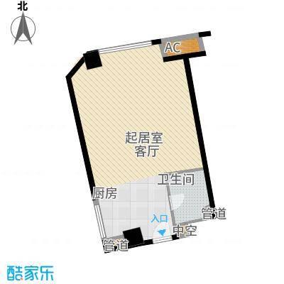 中宇国际中心67.80㎡2-19层B户型1室1厅1卫1厨
