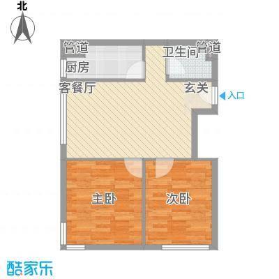 东亚上北中心76.52㎡11号楼C4反户型2室2厅1卫1厨