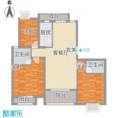 中大简界128.00㎡一期2、12、16#楼C1户型(已售完)户型3室2厅2卫1厨