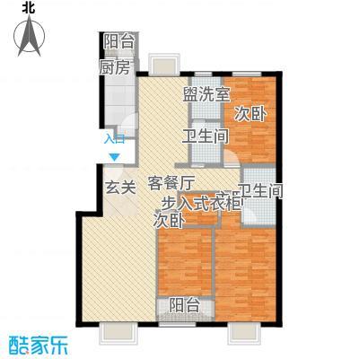紫金新干线135.00㎡二期E15C10户型3室2厅2卫1厨