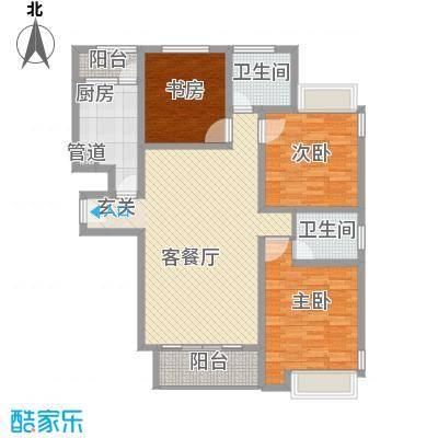 和兴东城139.00㎡三期1、2#楼D户型3室2厅2卫1厨