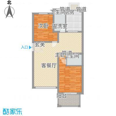 舜江碧水豪园112.65㎡J4户型2室2厅2卫1厨