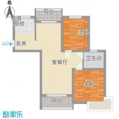 舜江碧水豪园96.03㎡3#楼J户型2室2厅1卫1厨