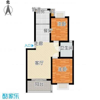 森隆蓝波湾89.00㎡D-1型户型2室2厅1卫1厨