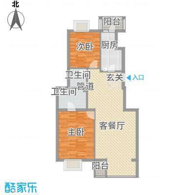 枫情佳苑89.00㎡枫情佳苑2室户型2室