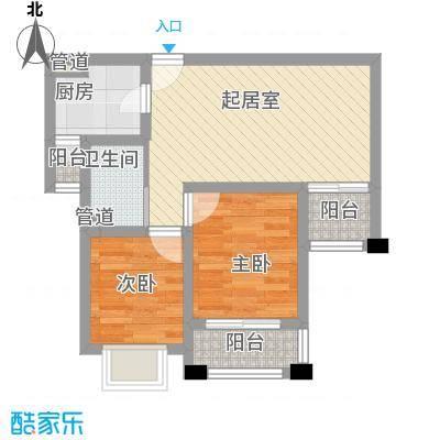 长江花园63.00㎡长江花园1室户型1室