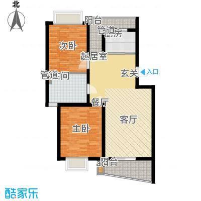 圣雅园·丽景91.58㎡(已售完)户型2室2厅2卫1厨