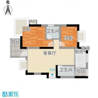 京东小区D区67.00㎡京东小区D区2室户型2室