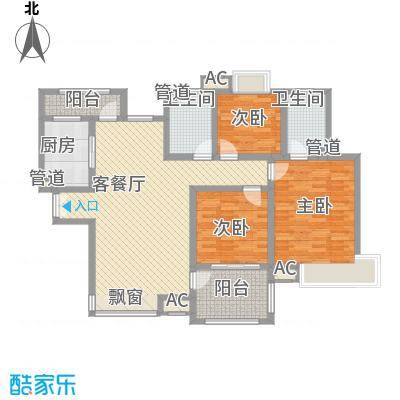 翰园小区150.00㎡翰园小区3室户型3室