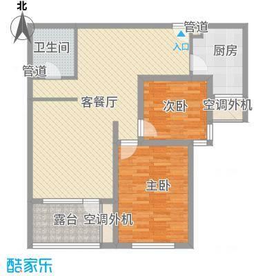 明天第一城8号院户型1室1厅1卫1厨