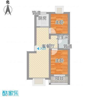 中宅58.00㎡中宅小区2室户型2室
