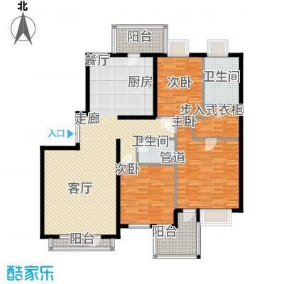 北京随园公寓140.00㎡户型3室2厅2卫1厨
