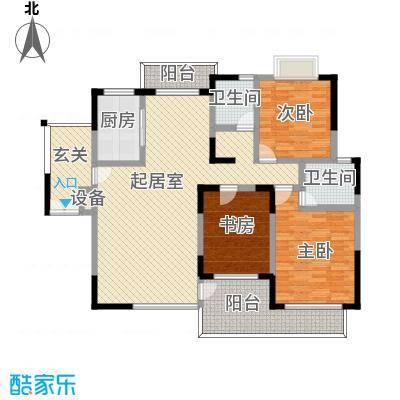 商城世纪村135.65㎡C8户型(三期)户型3室2厅2卫1厨