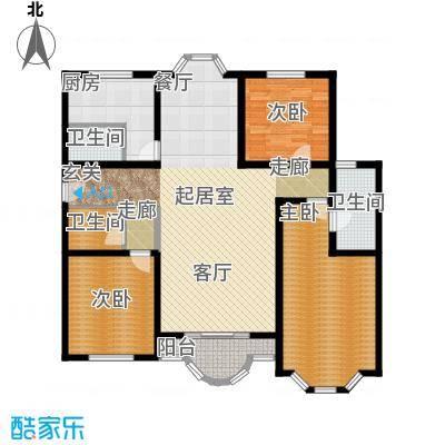富泉花园公寓141.91㎡富泉花园公寓户型图爱丁堡园D2-43室1厅2卫1厨户型3室1厅2卫1厨