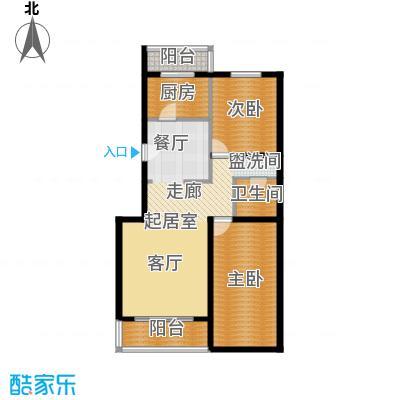 富泉花园公寓94.43㎡富泉花园公寓户型图爱丁堡园D2-5B平层2室1厅1卫1厨户型2室1厅1卫1厨