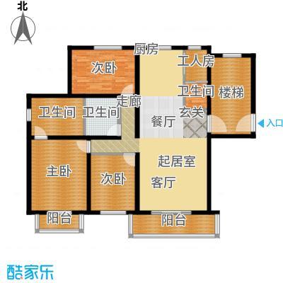 富泉花园公寓143.04㎡富泉花园公寓户型图雅典园D2-1平层-23室2厅3卫1厨户型3室2厅3卫1厨