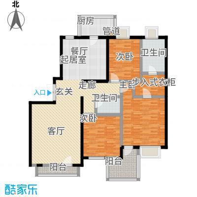 天伦随园公寓134.00㎡天伦随园公寓3室户型3室