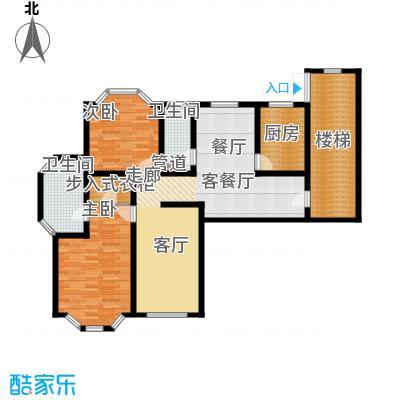 富泉花园公寓123.60㎡富泉花园公寓户型图维也纳园D1-4跃层3室2厅1卫1厨户型3室2厅1卫1厨