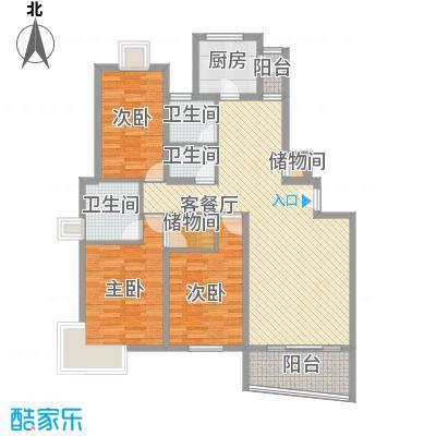 洪翔园134.00㎡洪翔园3室户型3室