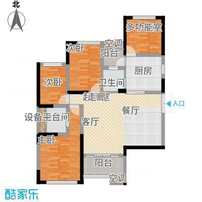 洪客隆英伦联邦102.00㎡4#、12#高层楼E户型4室2厅2卫1厨