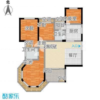 洪客隆英伦联邦128.00㎡4#、12#高层楼D户型4室2厅2卫1厨