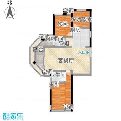 洪客隆英伦联邦102.00㎡4#、12#高层楼A户型3室2厅2卫1厨
